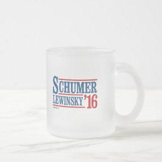 Schumer Lewinsky 2016 Frosted Glass Mug