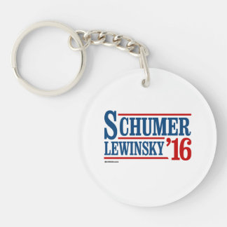 Schumer Lewinsky 2016 Double-Sided Round Acrylic Key Ring