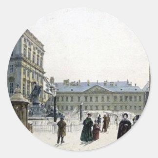Schwarzenberg Palace by Rudolf von Alt Round Sticker