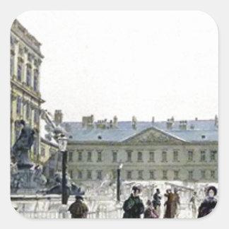 Schwarzenberg Palace by Rudolf von Alt Square Sticker