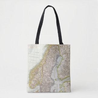 Schweden, Norwegen - Sweden and Norway Map Tote Bag
