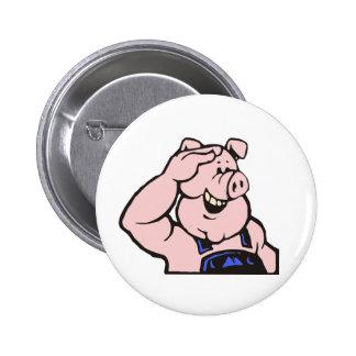 Schwein Sau Handwerker pig hog artisan craftsman Anstecknadelbutton