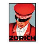 Schweizerhof Zurich Post Card