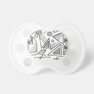 Schwiebert Abstract Expression Black and White Baby Pacifiers
