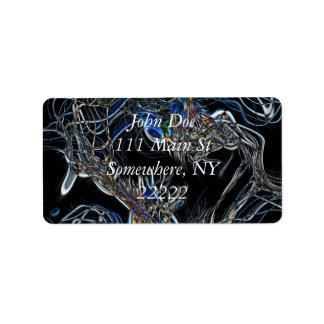 Sci-Fi Abstract Address Label