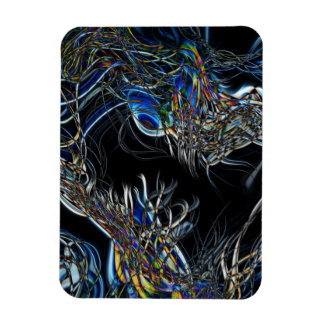 Sci-Fi Abstract Rectangle Magnet