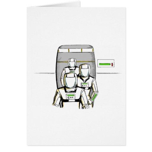 Sci-Fi Astronauts Greeting Card
