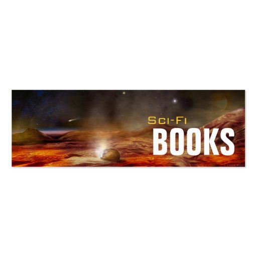 Sci-Fi Bookmark Business Card Templates