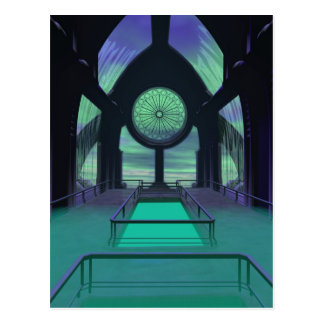 Sci-Fi Cathedral Postcard