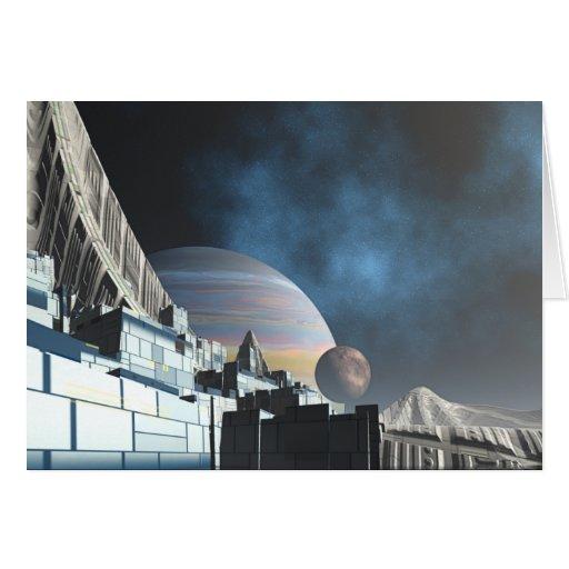 Sci-Fi City Greeting Card
