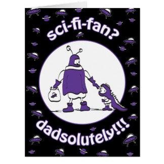Sci-Fi-Fan Dad Greeting Card
