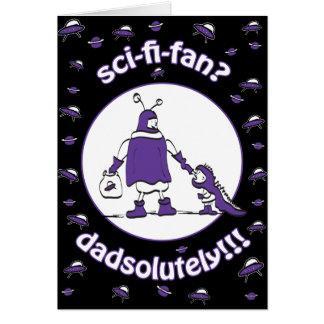 Sci-Fi-Fan Dad Stationery Note Card