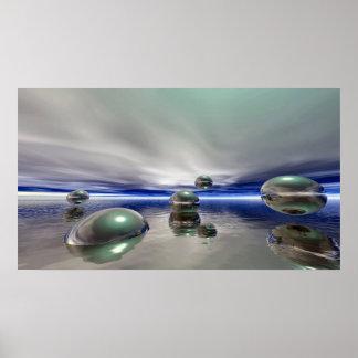 Sci Fi Fantasy Landscape Poster