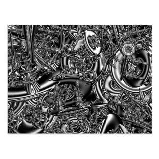 Sci fi fractal art postcard