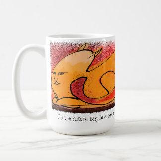 Sci-Fi future big brained cat overlord Mug