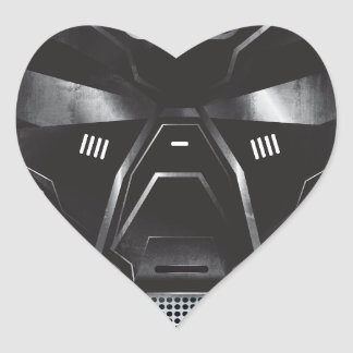 sci-fi geek concept art helmet design heart sticker