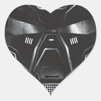 sci-fi geek concept art helmet design heart sticker