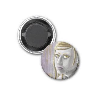 Sci-fi Girl 3 Cm Round Magnet