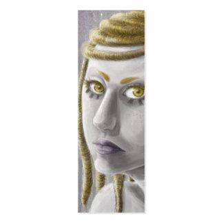 Sci-fi Girl Bookmark Business Card Template