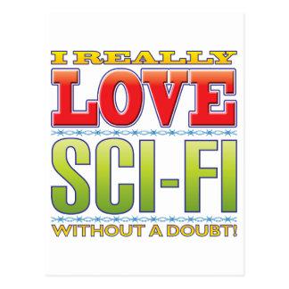 Sci-Fi Love Post Card
