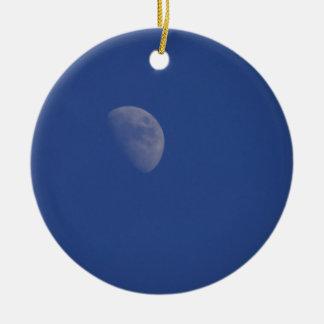 Sci Fi Moon Round Ceramic Decoration