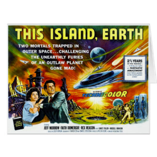 Sci-Fi Movie Poster 1954 Big Greeting Card