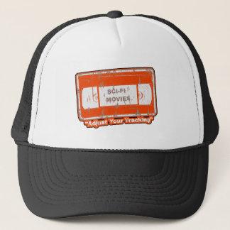 Sci-Fi Movies -Adjust Your Tracking Orange Trucker Hat