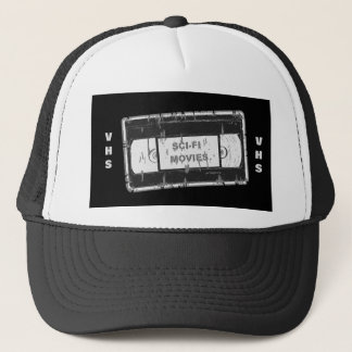 Sci-Fi-Movies Black & White Trucker Hat