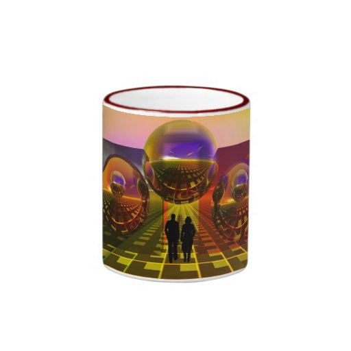 Sci-fi mug with couple