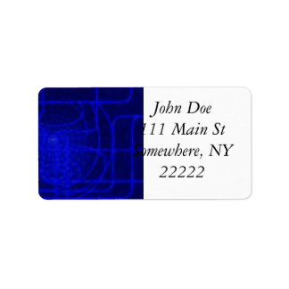 Sci-Fi Neon Circuits Address Label