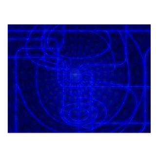 Sci-Fi Neon Circuits Postcard