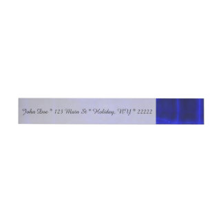 Sci-Fi Neon Circuits Wraparound Address Label