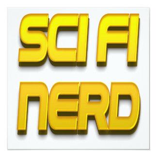 Sci-Fi Nerd Gold 13 Cm X 13 Cm Square Invitation Card