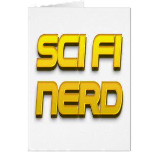 Sci-Fi Nerd Gold Cards