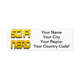 Sci-Fi Nerd Gold Return Address Label