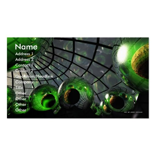 Sci-Fi Nursery Business Card Template