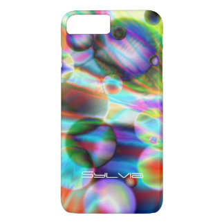 SCI-FI PLANETS , GLOBULAR UNIVERSE GALAXY iPhone 8 PLUS/7 PLUS CASE