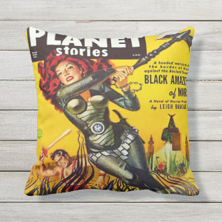 SCI FI PULP PLANET STORIES COVER CUSHION