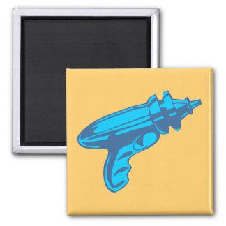 Sci-Fi Ray Gun Laser Pistol Square Magnet