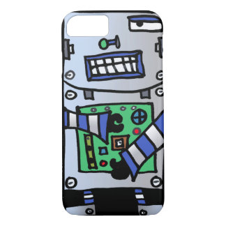 Sci Fi Robot Fun Iphone Case