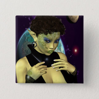 Sci-Fi Space Model 15 Cm Square Badge
