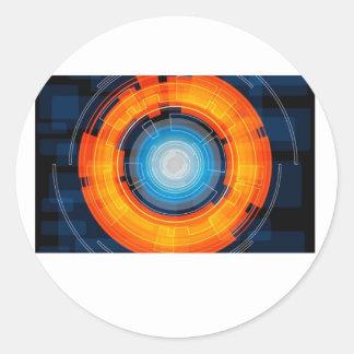 Sci-Fi Round Sticker