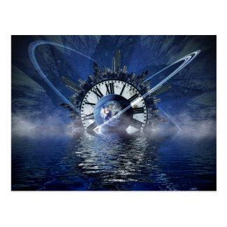 Sci-Fi Time Splash Postcard