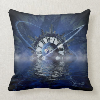 Sci-Fi Time Splash Throw Cushion