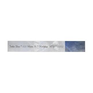 Sci-Fi Time Splash Wraparound Address Label