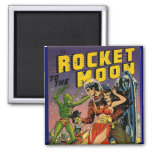Sci Fi Vintage Comic Book Cover Art Square Magnet