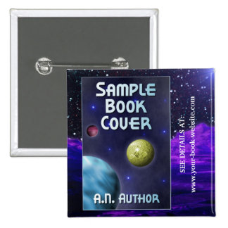 Sci-Fi Writer / Author Promotion: Book Cover 15 Cm Square Badge