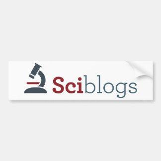 Sciblogs bumper sticker - white