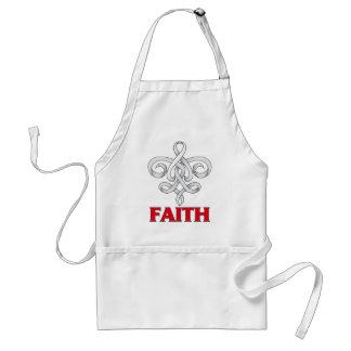 SCID Faith Fleur de Lis Ribbon Apron