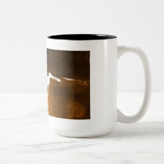 Science Abstract as a Concept Background Art Two-Tone Coffee Mug